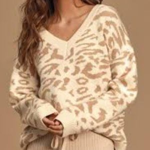 Sweaters - Good For You Cream Leopard Print Sweater